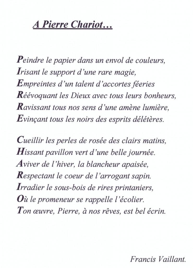 Poème de Francis Vaillant